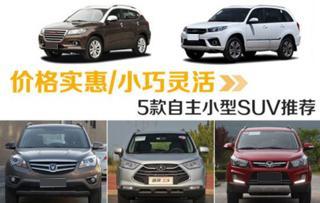 价格实惠/小巧灵活 五款自主小型SUV推荐