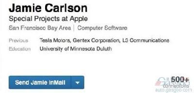 苹果挖角特斯拉 自动驾驶团队再添工程师