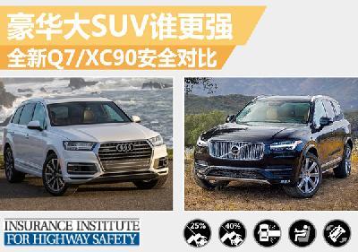 豪华大SUV谁更强 新一代Q7/XC90安全对比