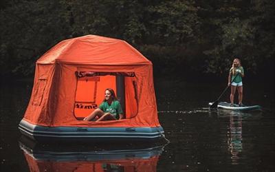 可以浮在水中央的居所 Shoal漂浮帐篷