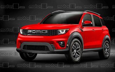 福特全新SUV假想图 造型比翼虎硬朗/全新福克斯平台打造