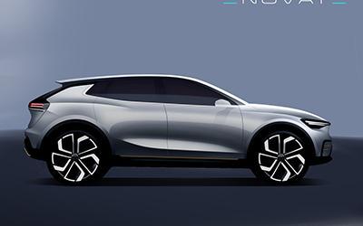 ENOVATE首款中大型纯电SUV效果图曝光 广州车展发布/明年上市