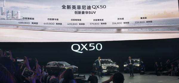 英菲尼迪全新QX50 四驱智驾万里神驹