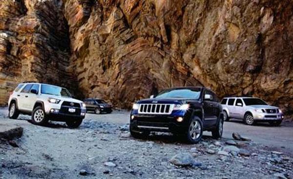 复杂路面四种选择试驾四款SUV车型对比