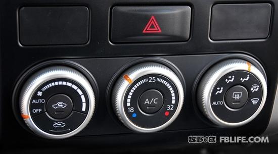 2012款森林人值得一提的是全系车型都配置了自动空调,并且个别车型可