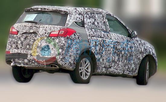 奇瑞全新SUV车型T21-奇瑞全新SUV T21曝光 明年上市高清图片