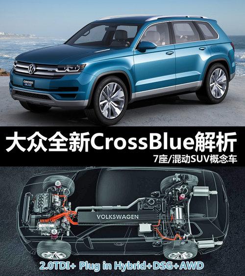 大众首款7座概念SUV 新Cross Blue解析