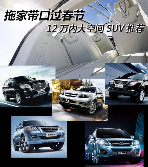 拖家带口过春节 12万内大空间SUV推荐
