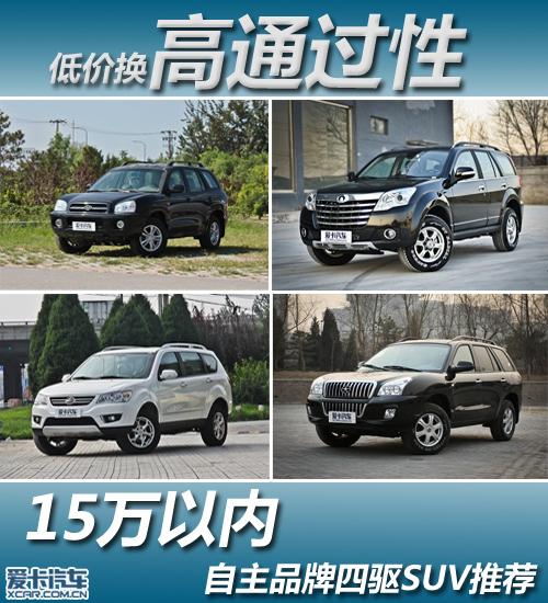 低价换高通过性 15万内自主四驱SUV