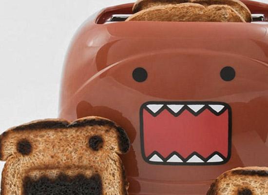 domo君摇身面包机 烤出可爱卡通人物
