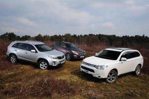 七座SUV大比武:欧蓝德/新胜达/索兰托
