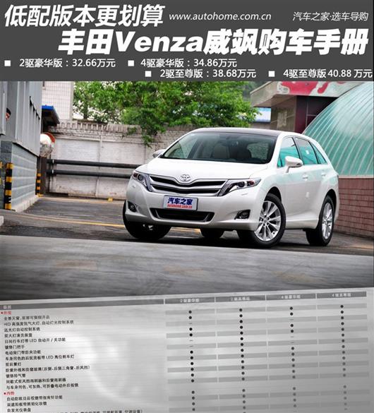 低配版本性价比更高 丰田威飒购车手册