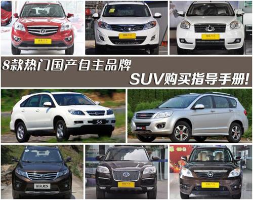 八款热门国产自主品牌SUV购买指导手册