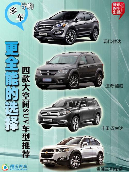 更全能的选择 四款大空间SUV车型推荐
